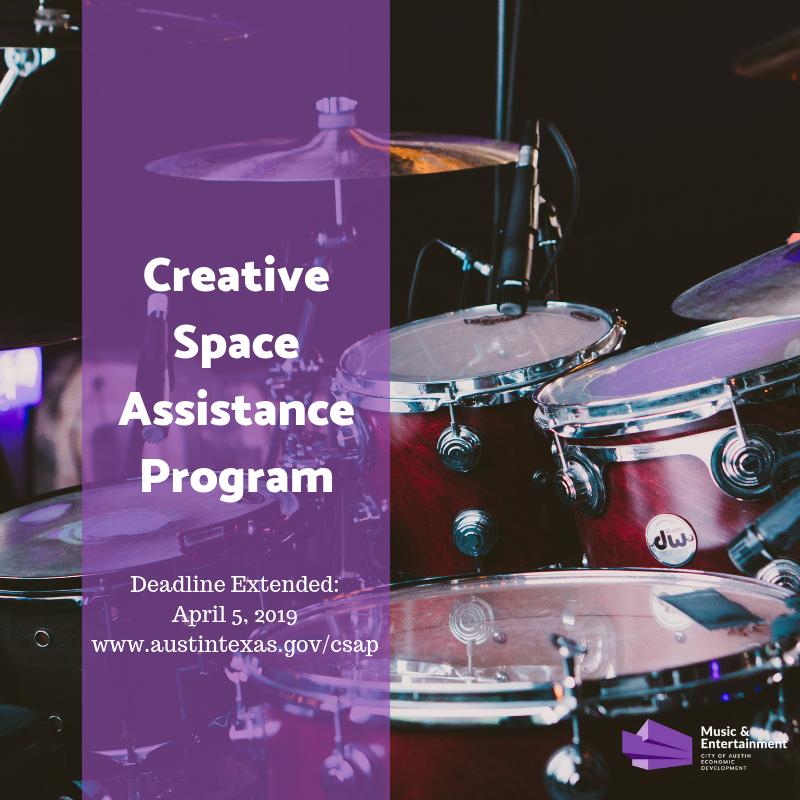 Creative Space Assistance Program Eligibility Deadline ...